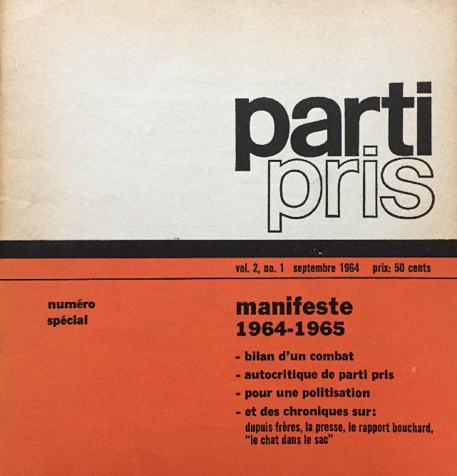 Parti Pris 1964