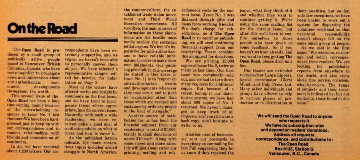 Open Road - Numéro 2 - Printemps 1977 - p.3