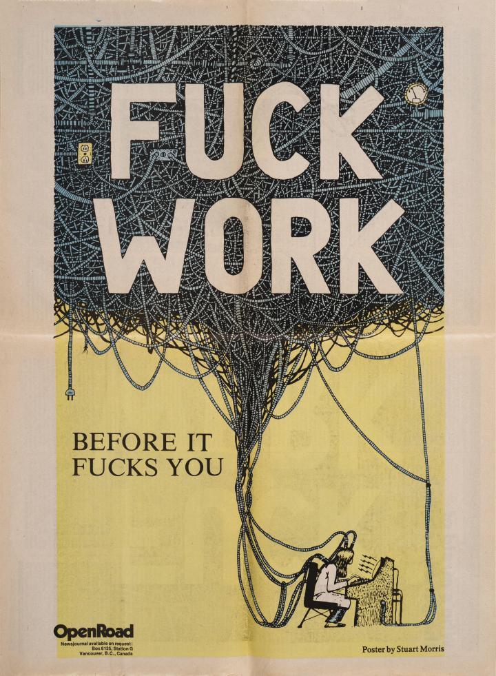 Open Road - Numero 16 - Printemps 1984 - Fuck Work! Artiste Stuart Morris, p.12-13