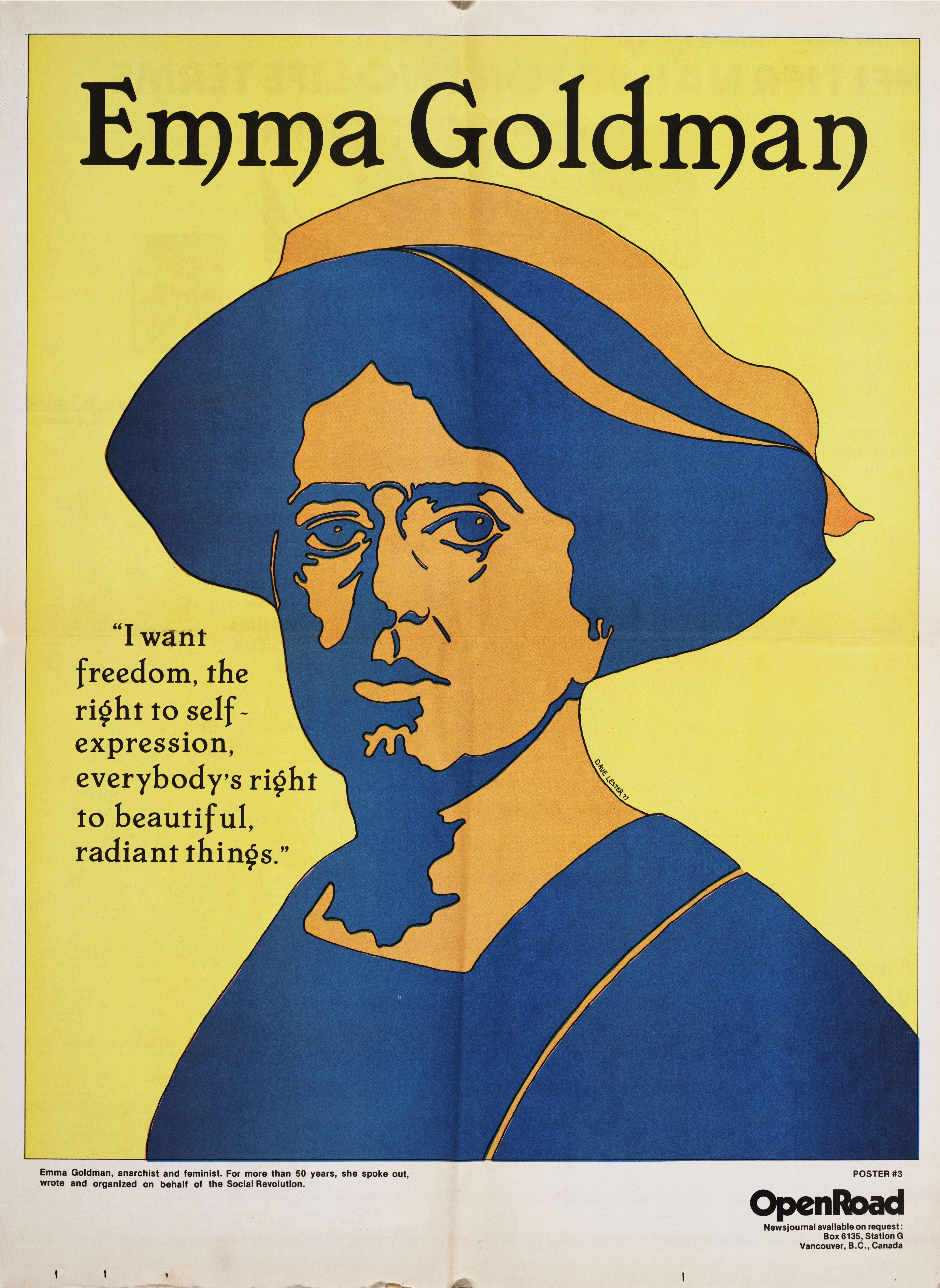 Open Road - Numero 3 - Été 1977 - Emma Goldman - artiste David Lester p.10-11