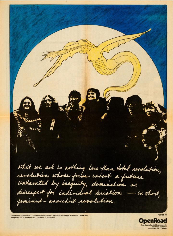 Open Road - Numero 9 - Printemps 1979 - Anarchism, the Feminist Connection - photo Holly Devor p.8-9