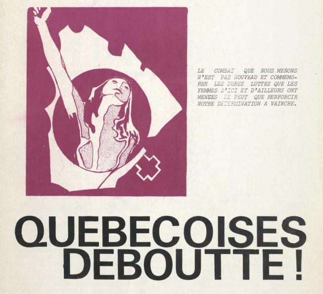 Quebecoises Deboutte! Mars 1973