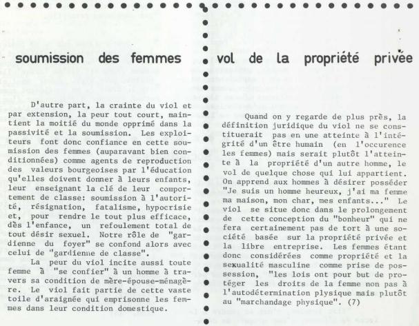 Sexe et politique - Le viol QD! juillet-aout 1973