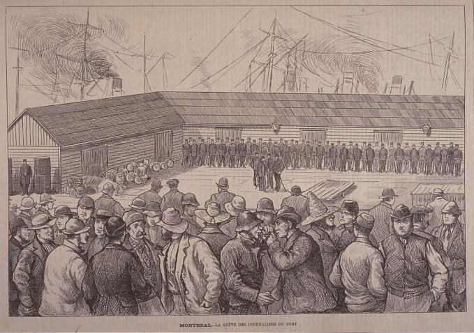 Greve des journaliers du port (Montreal, 1877)