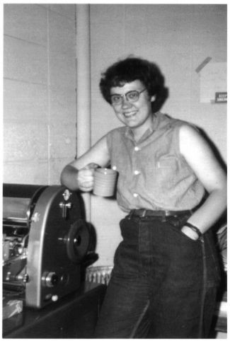 Barbara Gittings putting together the first nationally distributed lesbian publication, The Ladder. (1960s)